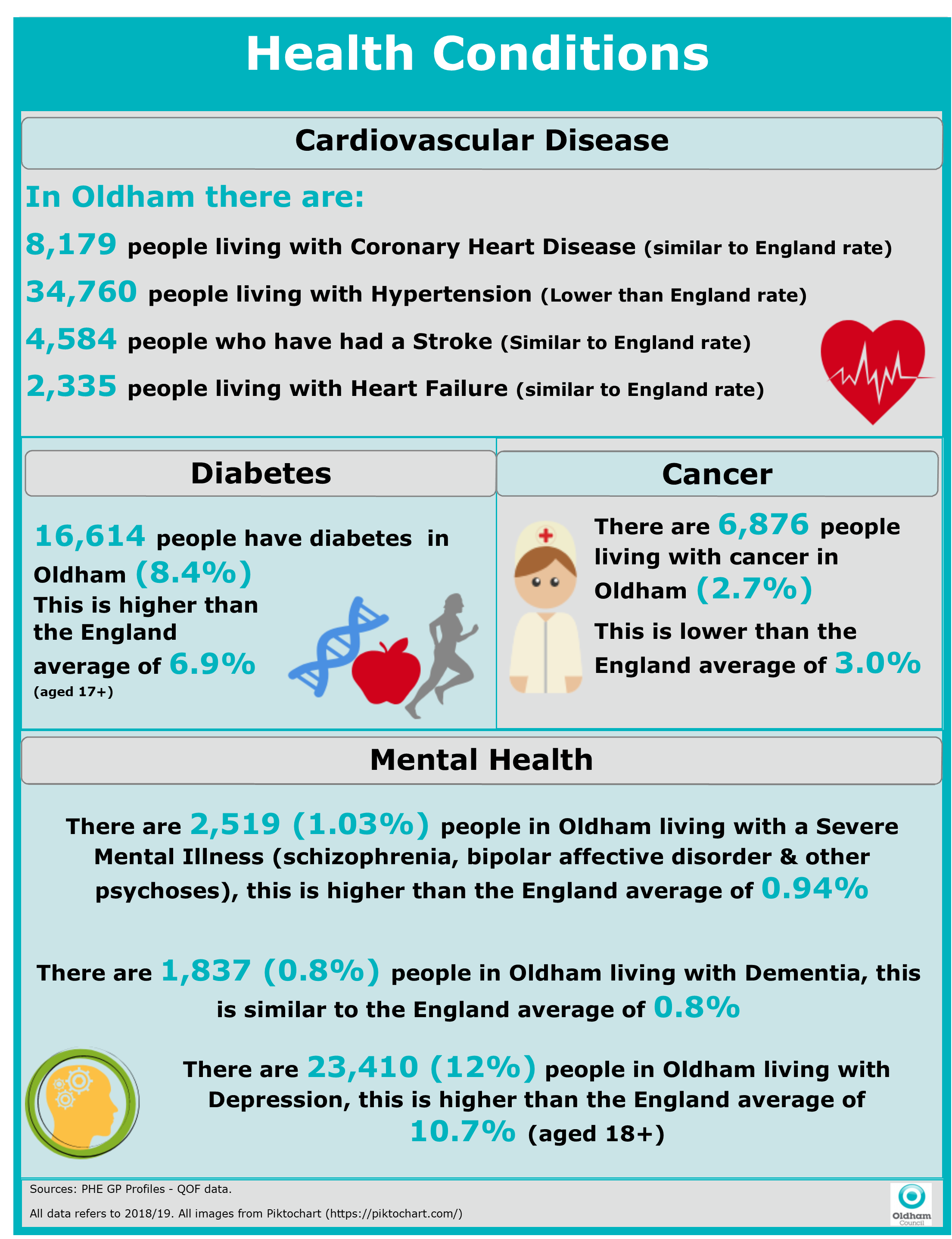 JSNA Health Conditions Graphic